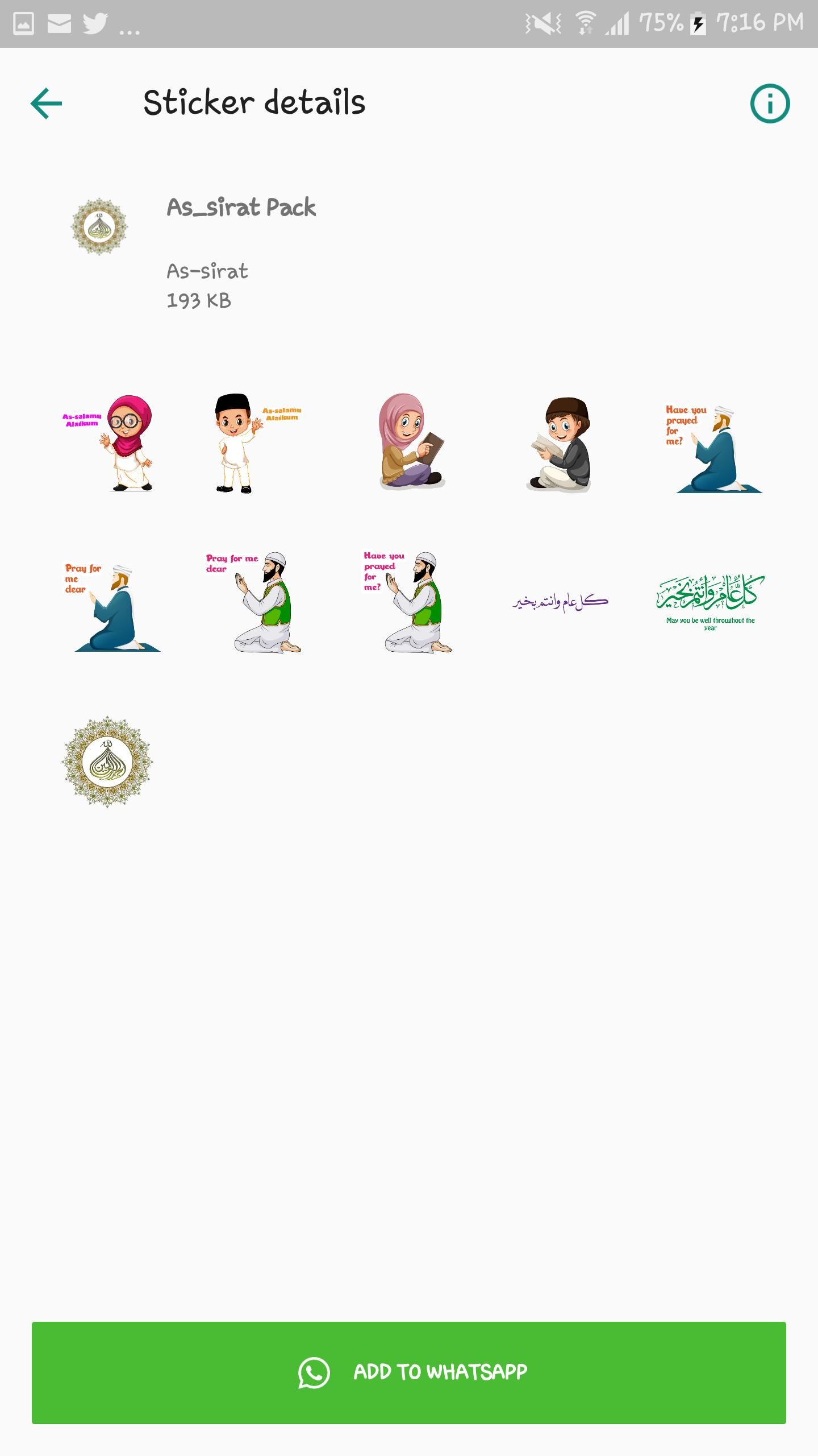 As-Sirat Islamic Whatsapp Stickers (Hausa) for Android - APK