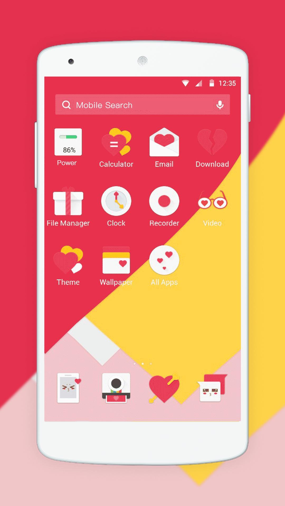 Love clock theme mobile