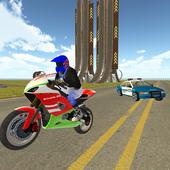 Bike Rider VS Cop Car - Police Chase & Escape Game icon