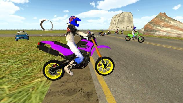 Bike Rider VS Cop Car - Police Chase & Escape Game screenshot 1