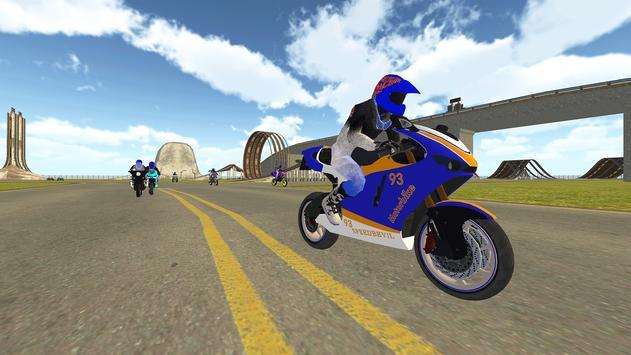 Bike Rider VS Cop Car - Police Chase & Escape Game screenshot 5
