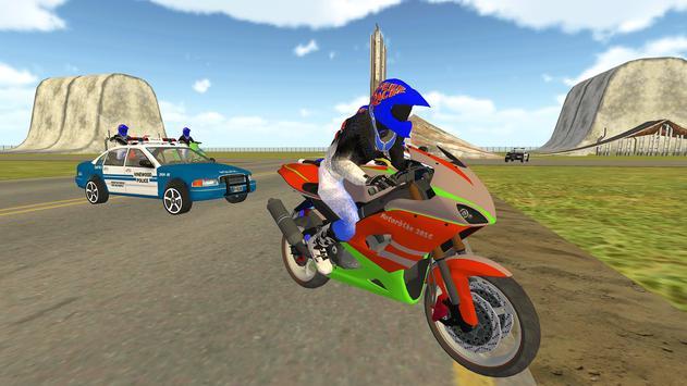 Bike Rider VS Cop Car - Police Chase & Escape Game screenshot 6