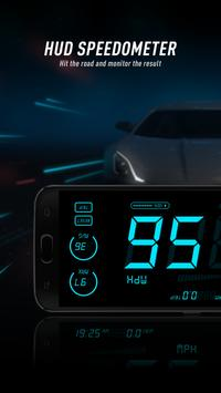 HUD Speedometer to Monitor Speed and Mileage poster