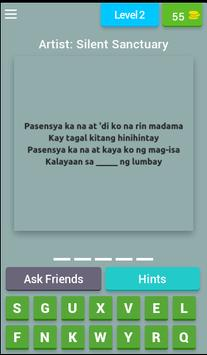 Missing OPM Lyrics Quiz screenshot 2
