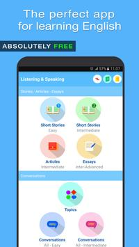 English Listening and Speaking poster