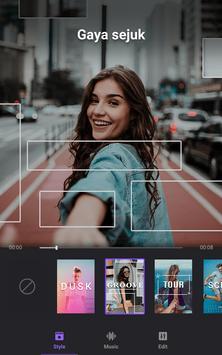 Pembuat Video Foto dengan Muzik, Editor Video syot layar 1
