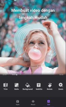 Pembuat Video Foto dengan Muzik, Editor Video syot layar 2