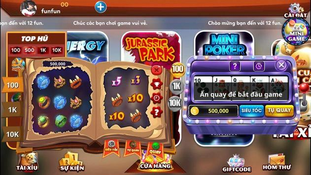 12fun.net game số 1 châu á screenshot 2