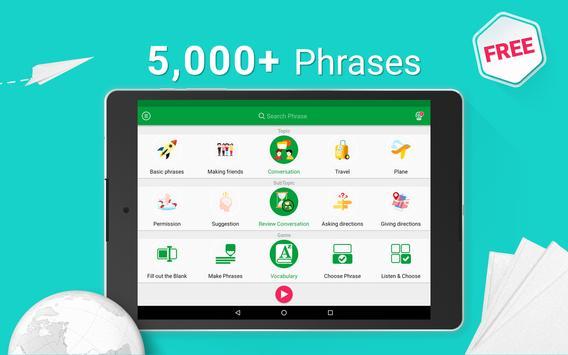 Learn Brazilian Portuguese - 5000 Phrases screenshot 8