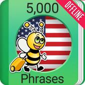 Learn American English - 5000 Phrases icon