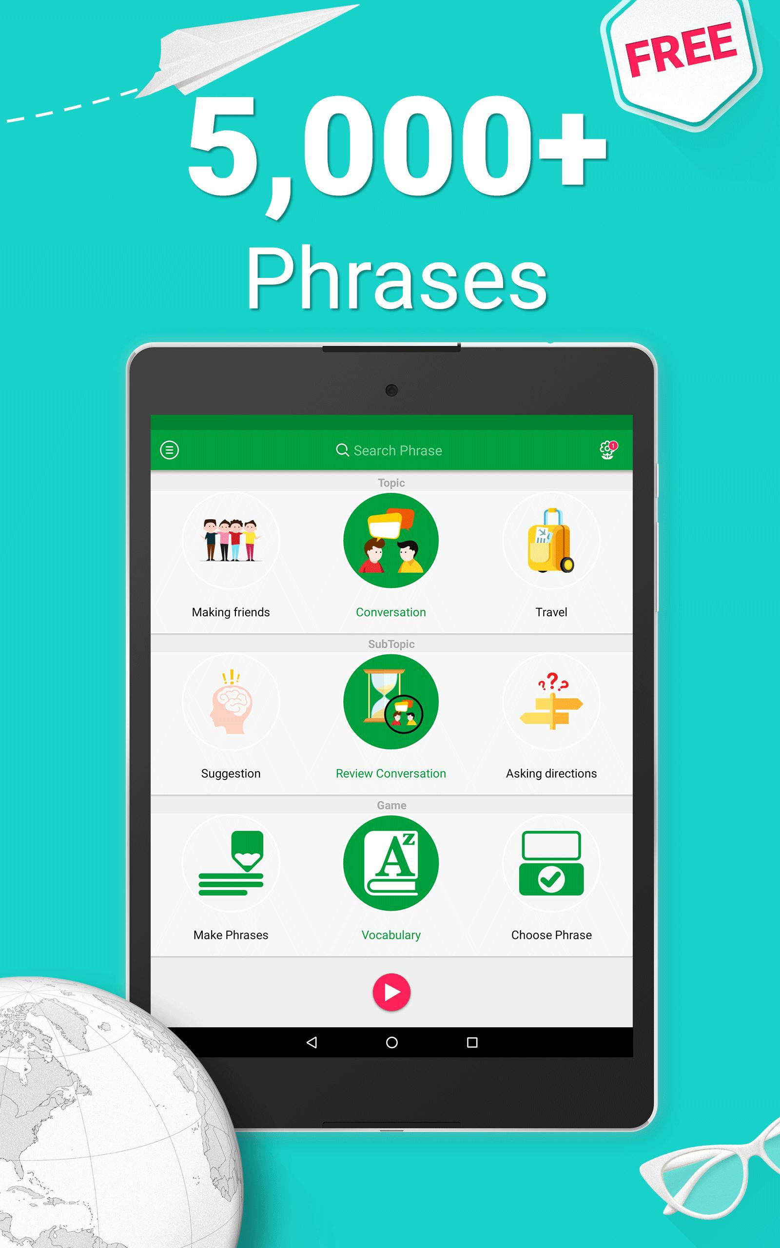 Speak English - 5000 Phrases & Sentences for Android - APK Download