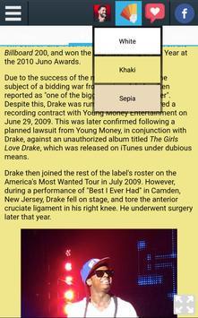 Biography of Drake screenshot 2