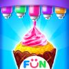冰淇淋蛋筒纸杯蛋糕-儿童烘焙食物游戏 圖標