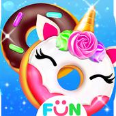 Cook Donut Maker - Unicorn Food Baking Games आइकन