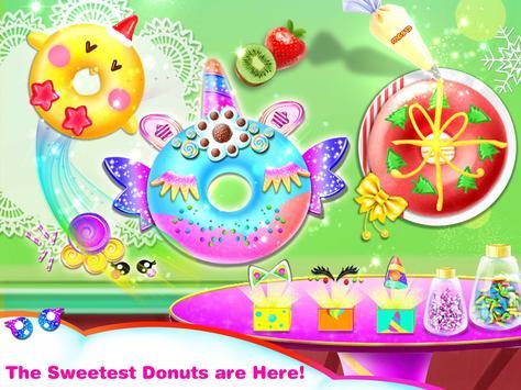 Cook Donut Maker - Unicorn Food Baking Games स्क्रीनशॉट 3