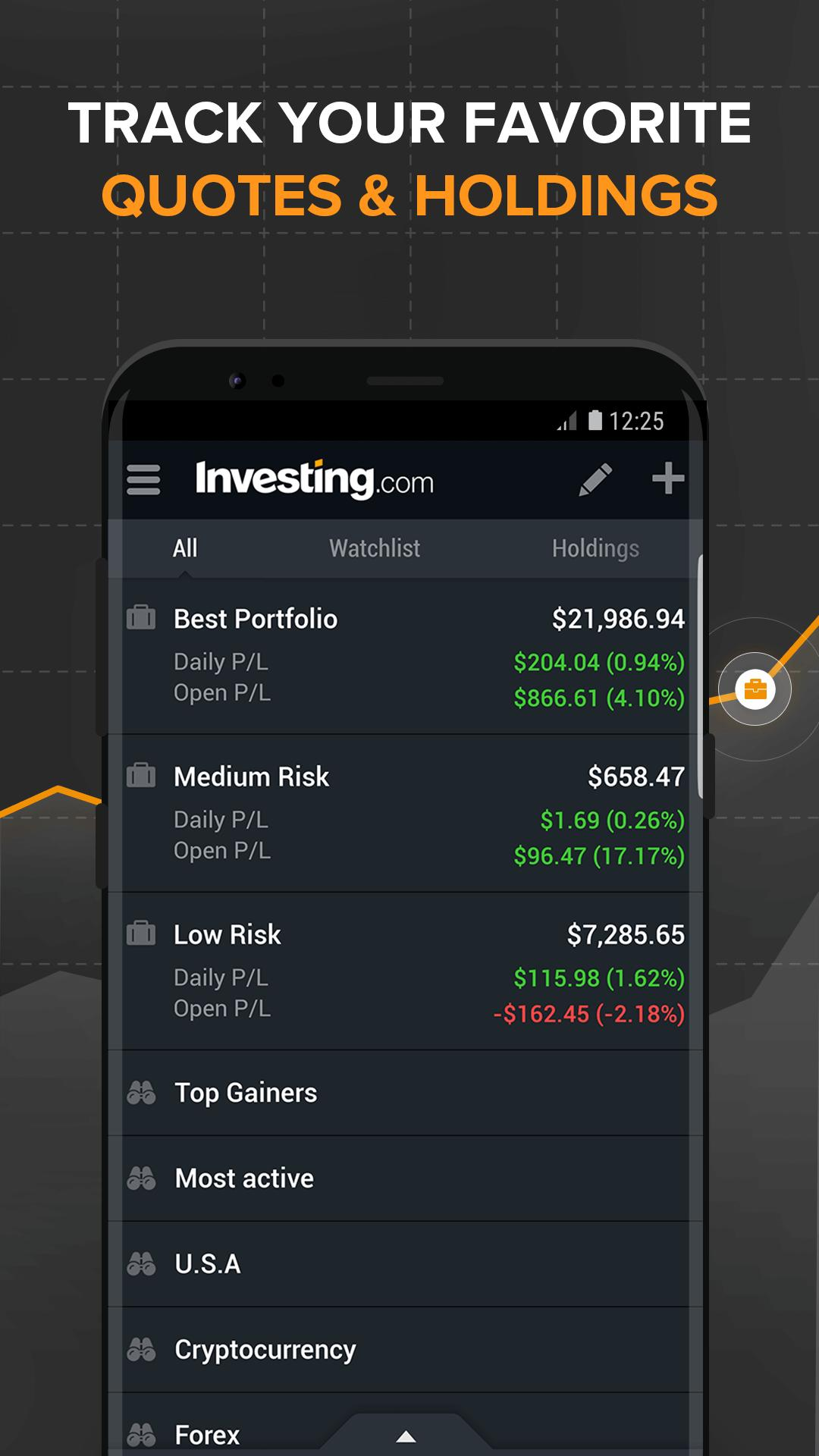 Investing Com Stocks Finance Markets News For Android Apk Download