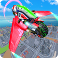 Light Bike Flying Stunt Racing Simulator