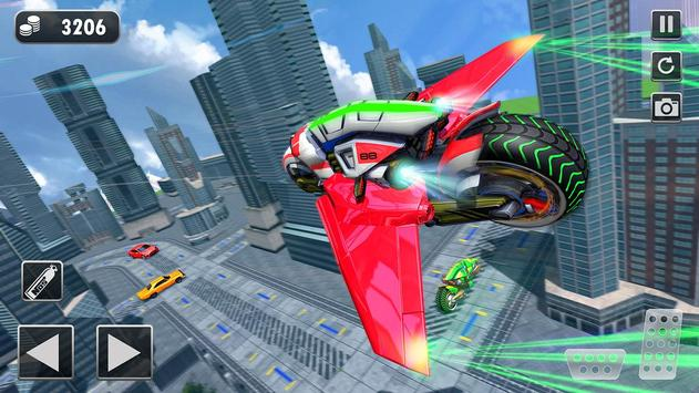 Light Bike Flying Stunt Racing Simulator screenshot 3