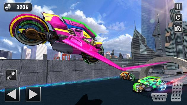 Light Bike Flying Stunt Racing Simulator screenshot 1