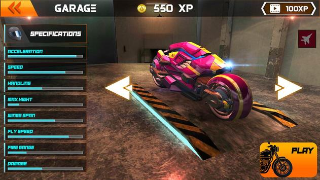 Light Bike Flying Stunt Racing Simulator screenshot 4