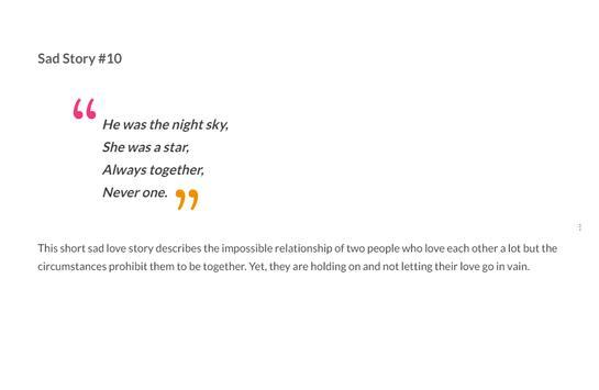 Sad Love Stories screenshot 11