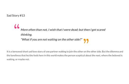 Sad Love Stories screenshot 14