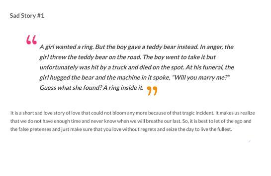 Sad Love Stories screenshot 1