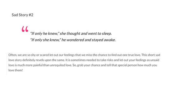 Sad Love Stories screenshot 2