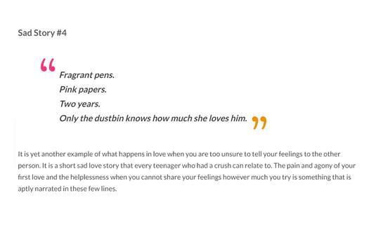 Sad Love Stories screenshot 4