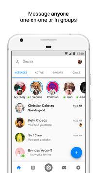 Messenger الملصق