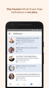 Facebook Pages Manager تصوير الشاشة 2