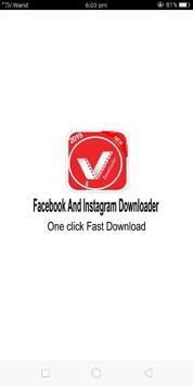 Free Video Downloader For Facebook And Instagram poster