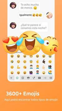 Teclado Emoji Facemoji Lite - Emojis, Temas, GIF captura de pantalla 1