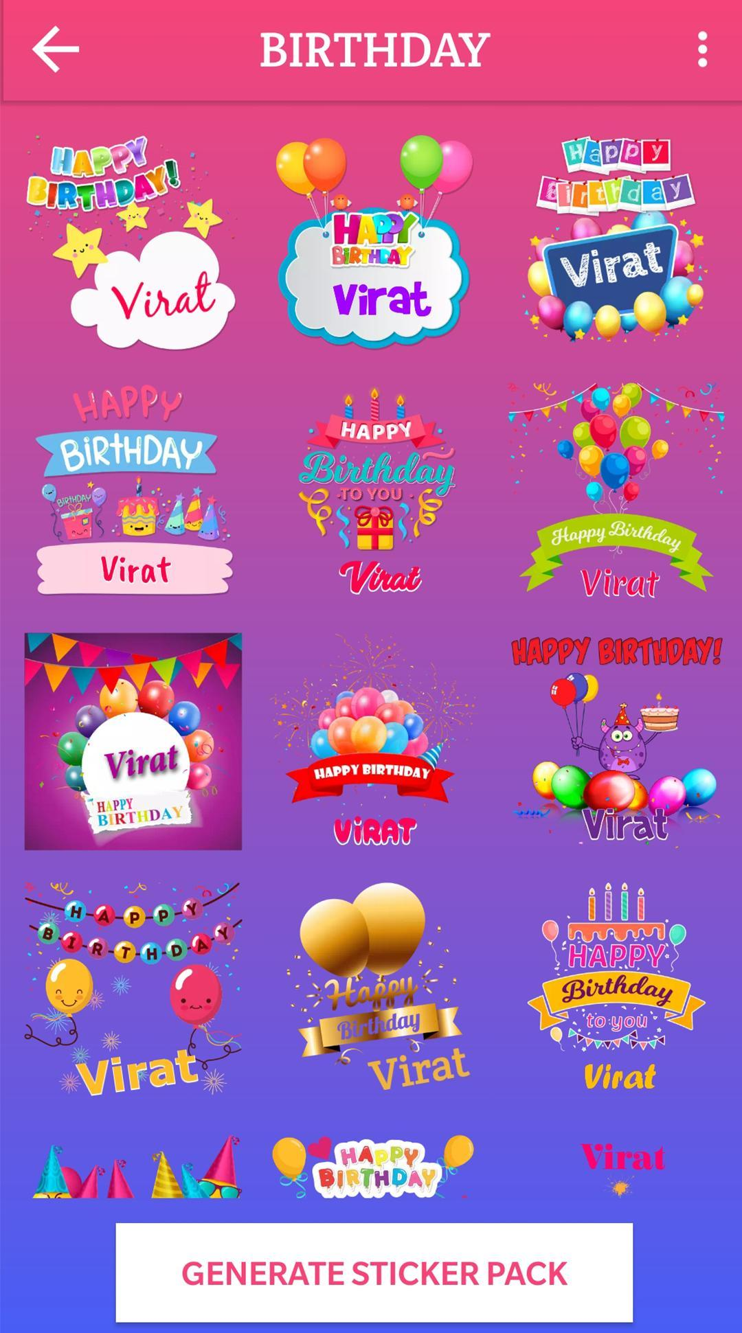 Name Sticker Maker - WAStickerApps, Text Stickers for