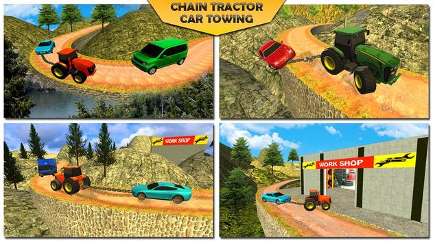Offroad Chained Tractor Towing Car 2019 screenshot 5