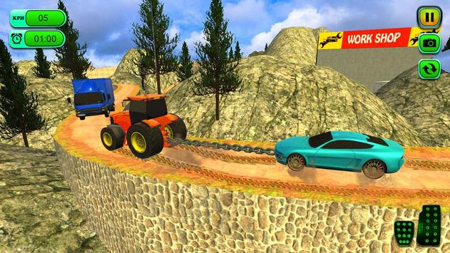 Offroad Chained Tractor Towing Car 2019 screenshot 1