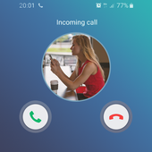 Fake call girlfriend prank icon