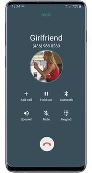 Fake call girlfriend prank screenshot 1