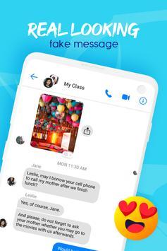 Fake message app: funny fake chat, fake video call screenshot 1