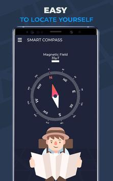 Compass Pro For Android: Digital Compass Free poster
