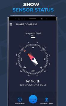 Compass Pro For Android: Digital Compass Free screenshot 1