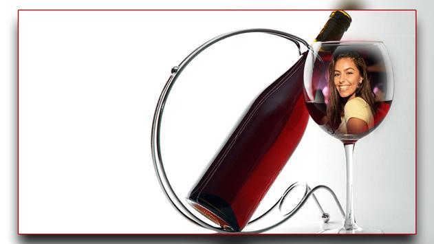 Wine Bottle Photo Frames poster