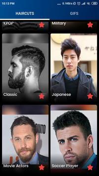 Famous Male Haircut screenshot 2