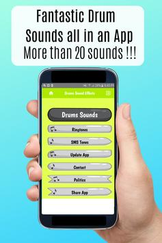 Drum Sound effects amazing ringtones for phone poster