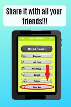 Drum Sound effects amazing ringtones for phone screenshot 4