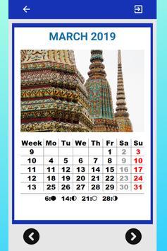 Best Thailand Calendar 2019 for Cell Phone screenshot 4