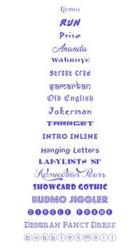 Fonts Keyboard screenshot 1