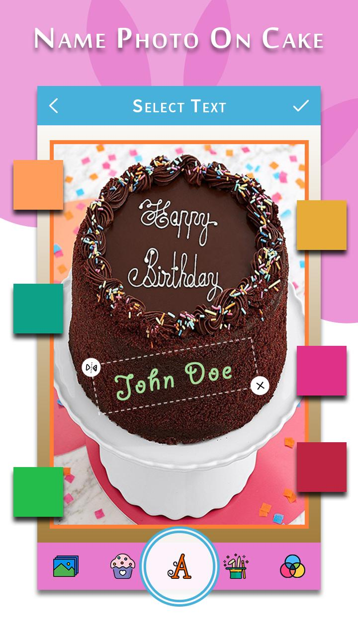 Fabulous Happy Birthday Song With Name Photo On Bday Cake For Android Personalised Birthday Cards Sponlily Jamesorg