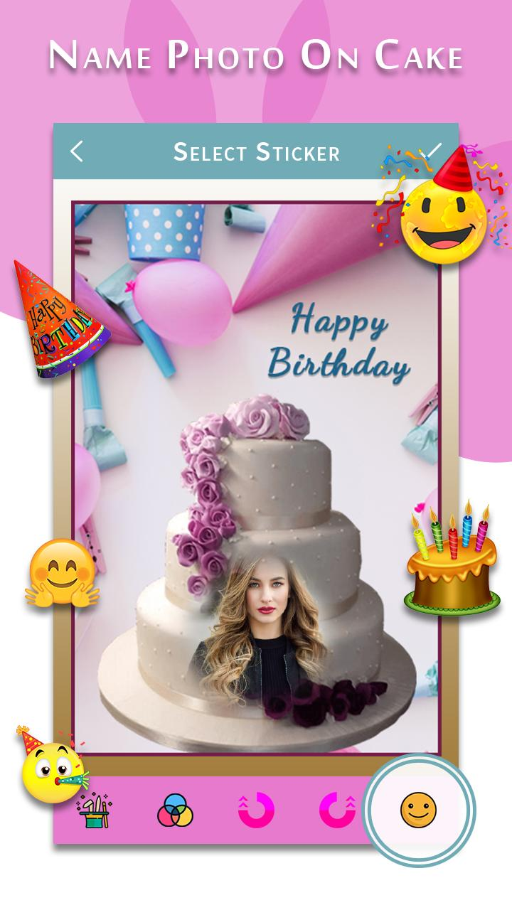 Super Happy Birthday Song With Name Photo On Bday Cake For Android Birthday Cards Printable Inklcafe Filternl