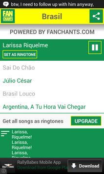 Brazil Songs World Cup 2014 screenshot 2